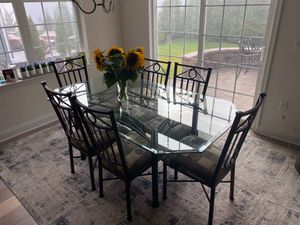 Dinette Table with 6 Chairs and 3 Matching Counter Stools for Sale in Lacey Township, NJ