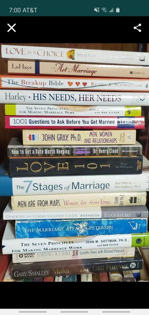 Relationship/Marriage books $7 each for Sale in Grand Terrace, CA