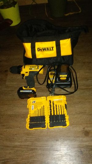 Dewalt 12v lithium battery + case and drill bit set for Sale in Portland, OR