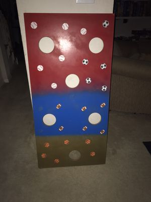 Game board for beanbags or balls approx 49x24 for Sale in Carrollton, TX
