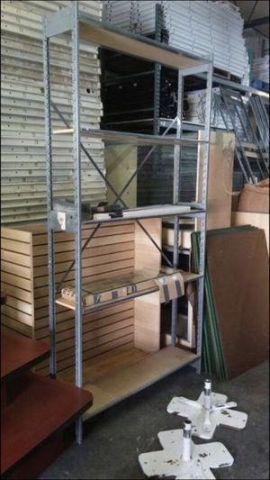 Backroom shelving/ warehouse/ storage lozier s Shelving wood metal for Sale in Virginia Gardens, FL