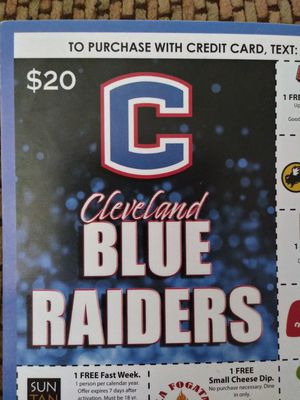 Blue Raiders coupons cards for Sale in Cleveland, TN