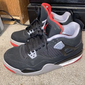Air Jordan 4 Retro black and red 'BRED' for Sale in Marietta, GA