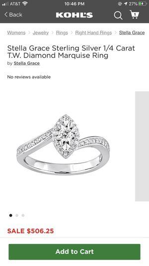 1/4 Carat Diamond Ring Size 9 for Sale in Fresno, CA
