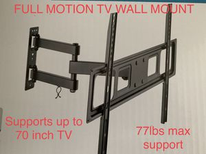 Brand new tv wall mount / full motion / dual arm support / supports tv between 32-70 in 88lbs for Sale in Helotes, TX