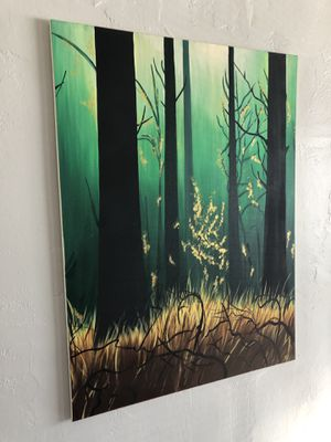 Forest canvas painting for Sale in Cleveland, OH
