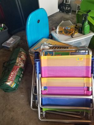 Beach chairs/tent/camp stove for Sale in Dallas, TX