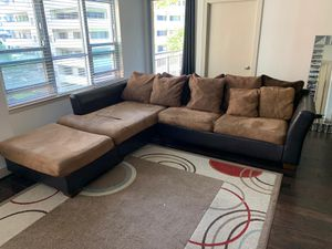 Brown L Couch for Sale in Arlington, VA