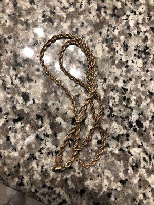 Gold chain necklace for Sale in Wichita, KS
