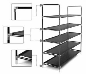 5-tier Storage Organizer Cabinet Shelf Space Saving Shoe Tower Rack Waterproof for Sale in Highland, UT