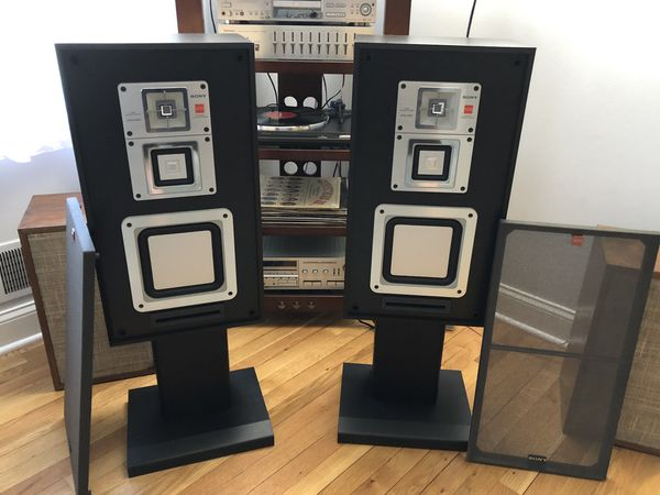 Sony Pistonic Driver Speakers with Stands(Vintage)