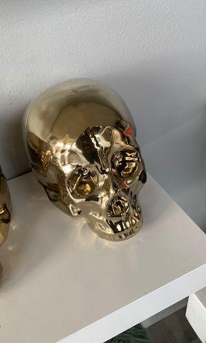 Ceramic Skull (Gold) for Sale in St. Louis, MO