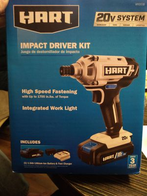 Hart impact driver kit/brand new box never opened for Sale in Joplin, MO