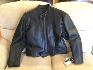 New Mens 50 UNIK PREMIER Motorcycle Leather Jacket Insulated/Lined with tags for Sale in Huntingdon Valley, PA