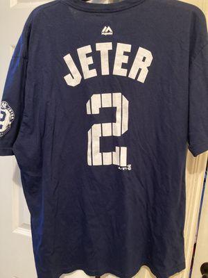 Majestic Derek jeter Jersey t shirt size 2 XL for Sale in Long Beach, CA