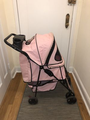 Pink dog stroller for Sale in Queens, NY