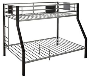 All black bunk bed, twin/full for Sale in National Park, NJ