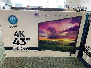 """Brand New 4K ONN UHDTV 43"""" Open Box w/ warranty CQ8 for Sale in Fullerton, CA"""