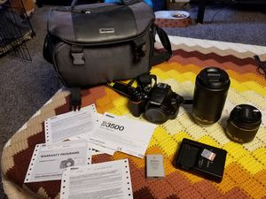 Nikon D3500 with 2 lenses : 18-55mm lens & 70-300mm lens. for Sale in Denver, CO