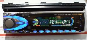 ALPINE CDA-7965 OLD SCHOOL COMPETITION 5 Volt 6ch. Gold plate RCA Pre Outs SQ DECK HEAD UNIT RECEIVER SINGLE DIN CAR AUDIO RADIO STEREO for Sale in Roseville, CA