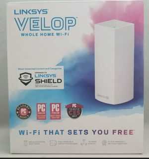 L 🔥New Linksys WHW0301 Velop Mesh Router Tri-Band Whole-Home Mesh Wi-Fi System 1P for Sale in Wesley Chapel, FL