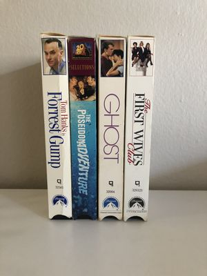 Classic VHS Movies Forrest Gump Ghost First Wives Club Poseidon Adventure for Sale in Corona, CA