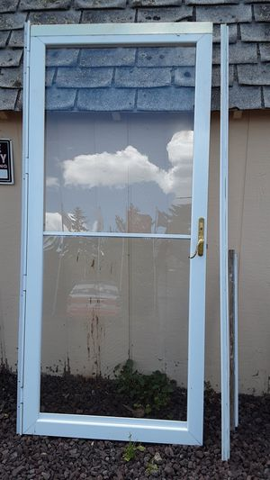 Storm door with full glass panels for Sale in Lakeside, AZ