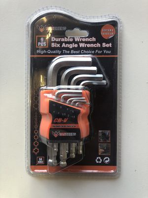 9 Pcs Durable Wrench. Six Angle Wrench Set. 1.5-10 size. Brand New. for Sale in Los Angeles, CA