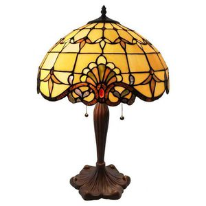 24 in. Amber Table Lamp with Allistar Stained Glass Shade for Sale in Houston, TX