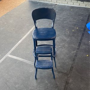 Vintage Kitchen Chair And Step Stool for Sale in Brentwood, TN