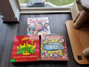 Board Games: (3-in-1) Apples to Apples, Family Feud, Twister for Sale in Washington, DC