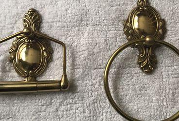 Brass Towel Ring & Toilet Paper Holder for Sale in Fairmont,  WV