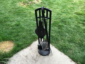 Black Metal Fireplace Tool Set for Sale in Bellingham, MA