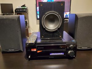 Pioneer VSX-D711 with Pioneer Speakers S-H152B-K & JVC SP-PWA6000 powered subwoofer for Sale in Silver Spring, MD