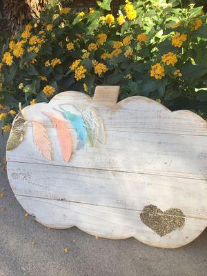 Wood pumpkin for Sale in Corona, CA
