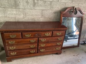 Dresser and mirror made in USA for Sale in Braddock, PA