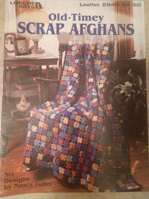 OLD-TIMEY SCRAP AFGHANS CROCHET MAGAZINE for Sale in Mesa, AZ