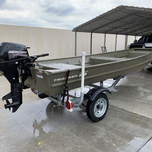 2018 tracker 14 mercury 9.9 hp Johnboat John Boat Flats Boat for Sale in Hollywood, FL