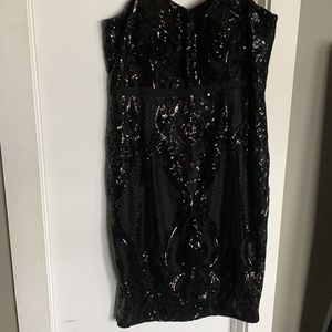 Black Strapless Sequins Dress for Sale in Washington, DC