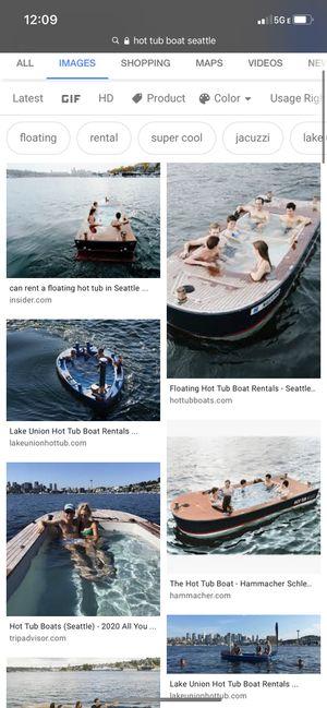 Hot tub boat Seattle ticket for Sale in Seattle, WA