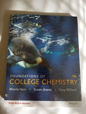 Foundations of College Chemistry, Binder Ready Version, 15th edition for Sale in City of Industry, CA