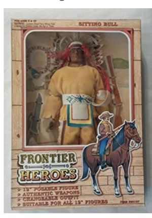 """Sitting Bull & Buffalo Bill 12"""" Posable Action Figures by Frontier Heroes for Sale in Fuquay Varina, NC"""