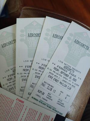 Aerosmith -Fenway Park 9/14/20 for Sale in North Andover, MA