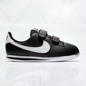 Nike CORTEZ BASIC SL (PSV) Boys Black/White 904767-001 Hook & Loop Closure Sz 3y for Sale in Sacramento, CA