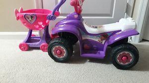 Toddler 4 wheeler and shopping cart for Sale in Stone Ridge, VA