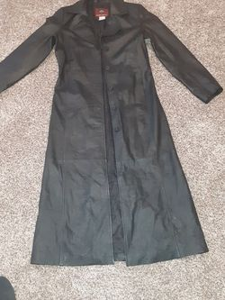 Genuine Leather Trench Coat (Long) for Sale in Oklahoma City,  OK