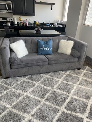 Super cute gray couch with pillows! for Sale in Richmond, VA