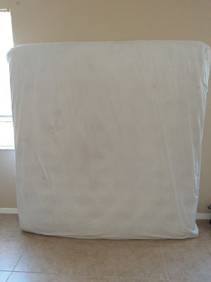 pillow topper king side bed box springs and frame for Sale in Port St. Lucie, FL