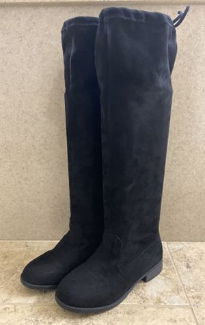 black faux suede over the knee boots (size 3) for Sale in Dublin, CA