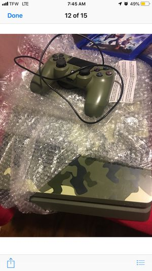 Sony Playstation 4 PS4 Slim Call of Duty: WWII Limited Edition Green Camouflage+6 Games+1 Controller+Gaming Headphones (Post Nintendo era) for Sale in Atlanta, GA